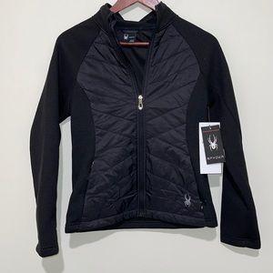 NWT Spyder ThermaWeb Water Resistant Jacket Black